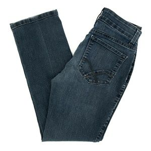 NYDJ Jeans Straight Denim Mid Rise Dark 2P 26X27